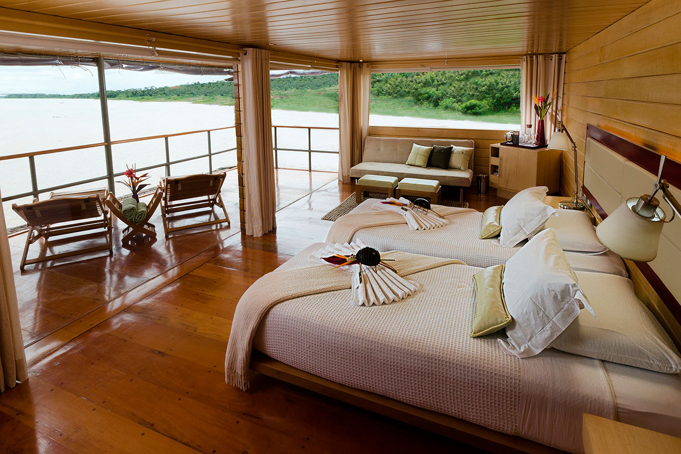 Master Suites Aboard the Delfin I Amazon Cruise