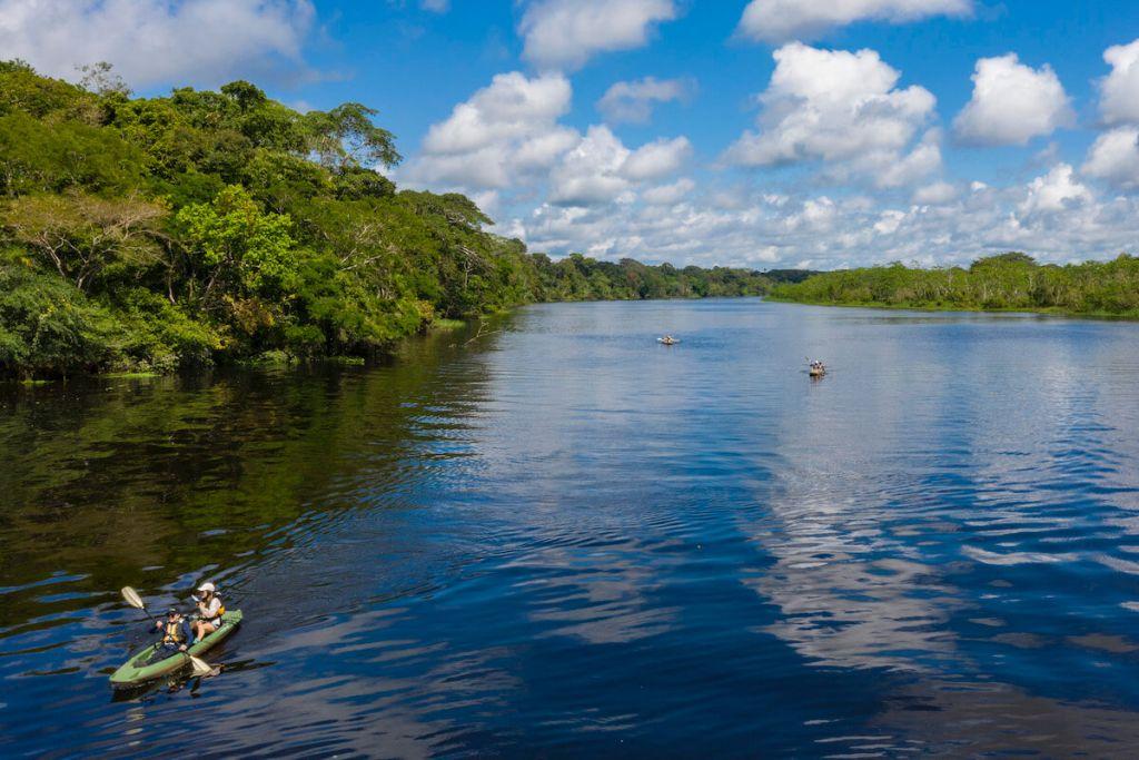 Kayaking Delfin Amazon Cruises